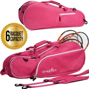 Athletico 6 Racquet Tennis Bag - Best Tennis Bag for Student Players
