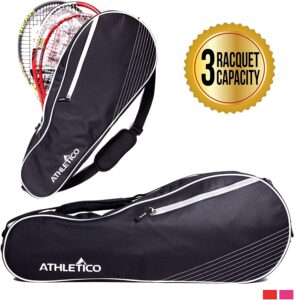 Athletico 3 Racquet Tennis Bag - Best for Heavy Rackets